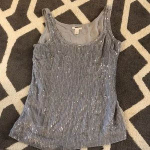 J Crew Sequence Gray Tank Top size 2